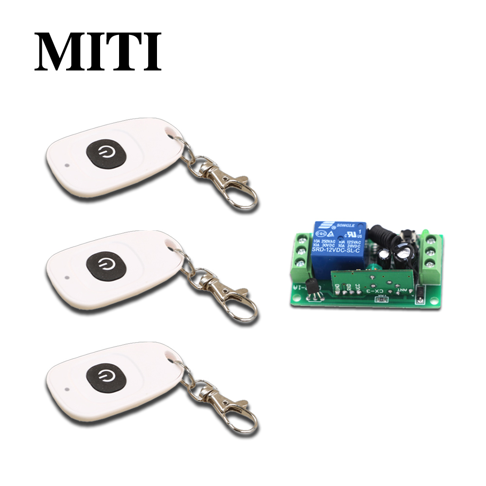 Best Price DC9V12V 24V Mini RF Wireless Remote Control Switch System 1CH 3pcs Waterproof Transmitter &1pcs Receivers 315/433mhz 2 receivers 60 buzzers wireless restaurant buzzer caller table call calling button waiter pager system