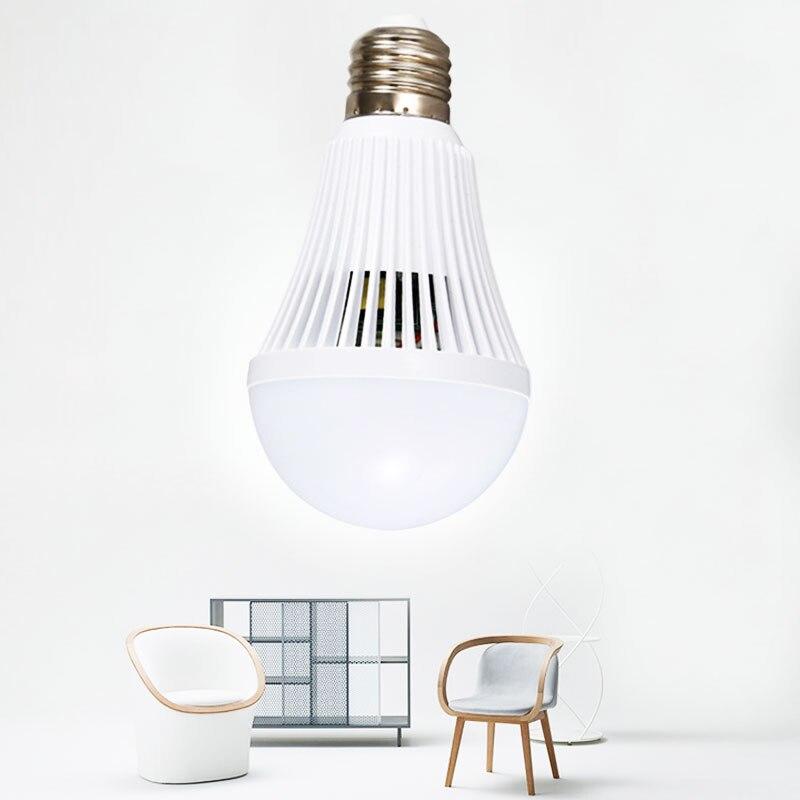 E27 LED Beam Energy Saving Intelligent Emergency Bulb Lamp Rechargeable 12W