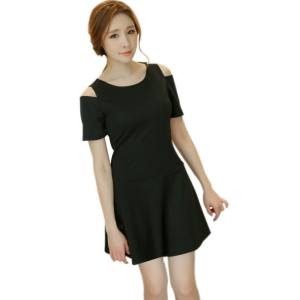 cede082da98a0 Jlong Korean Summer Women Clothing Mini Dress Black Red