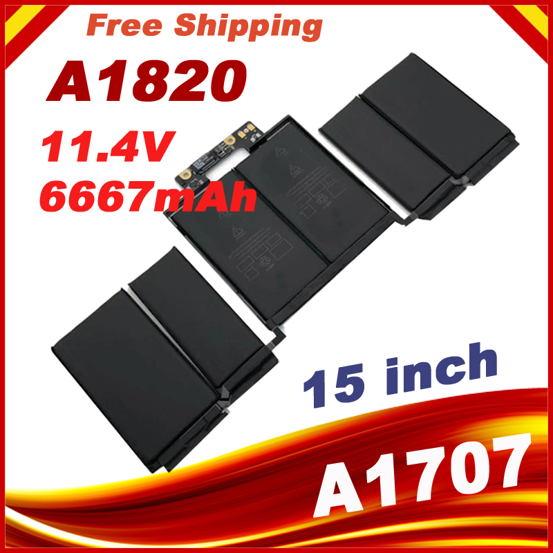 11.40V 6667mAh Laptop battery for Apple A1820 15 inch computer model A1707 2016 year laptop