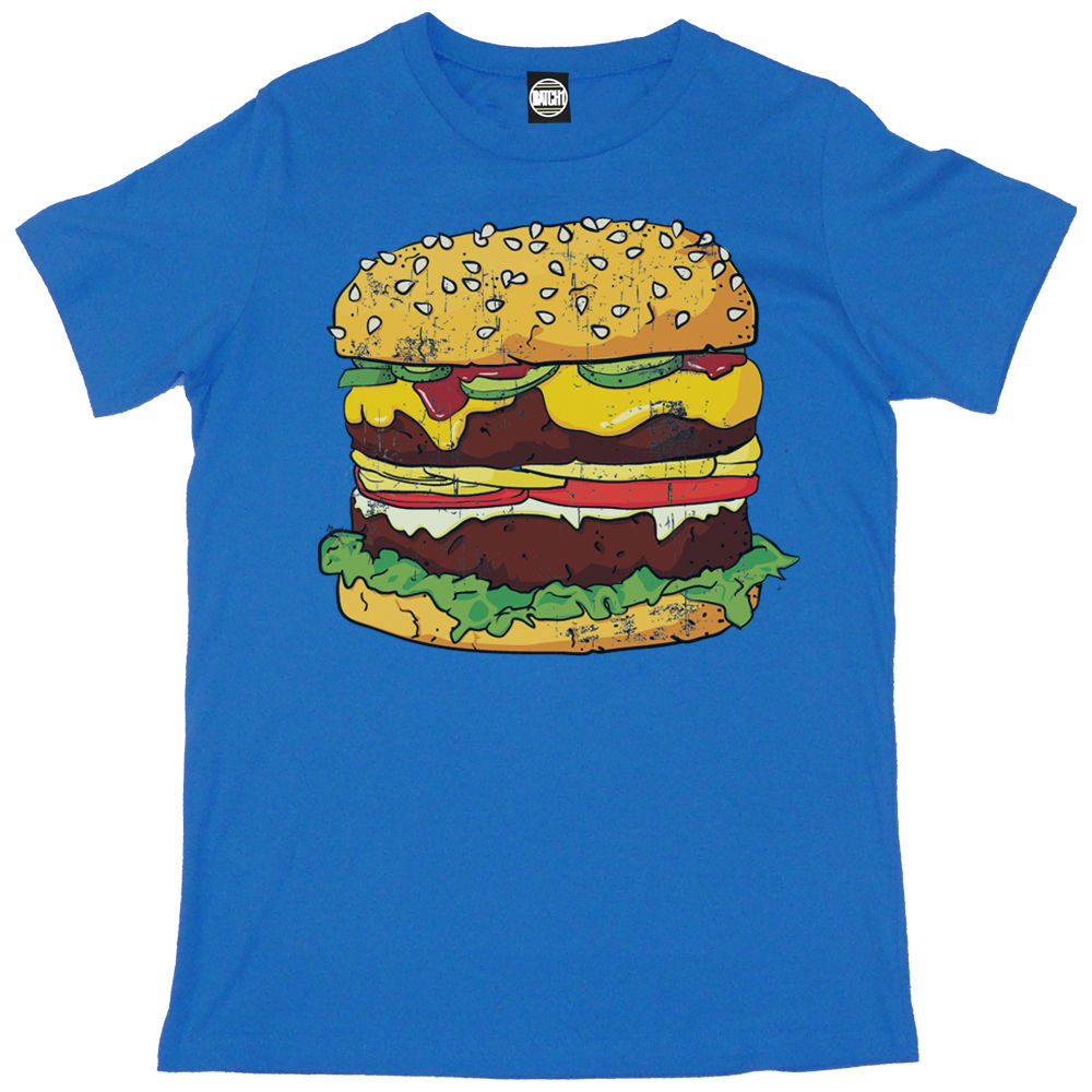 GIANT FAST FOOD BURGER MENS FUN NOVELTY FASHION PRINT T SHIRT New T Shirts Funny Tops Tee New Unisex Funny Tops in T Shirts from Men 39 s Clothing