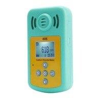Meter CO2 Detector Temperature Carbon Dioxide Tester High Precision Air Quality Analyzer Portable CO2 Detector Temperature Meter