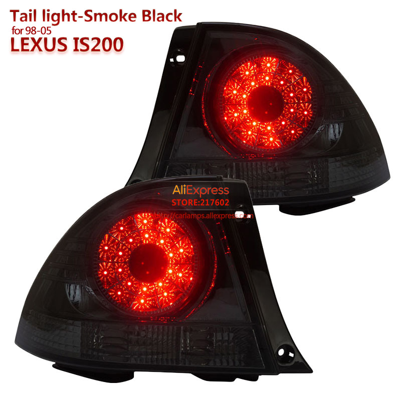 SONAR Brand for Lexus IS200 LED Tail light Assembly fit for 1998 2005 year Cars Rear light Top Quality Easy Install Smoke Black