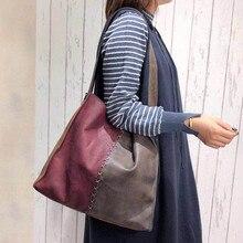 DAWOBOB Women's Soft Leather Handbag High Quality Women Big Shoulder Bag Luxury Brand Bucket Bag Fashion Women's Handbags цены