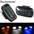 runmade 1Pair Car Side Marker Lamp LED Smoke Turn Signal Light For Toyota Land Cruiser 70 80 100 Series