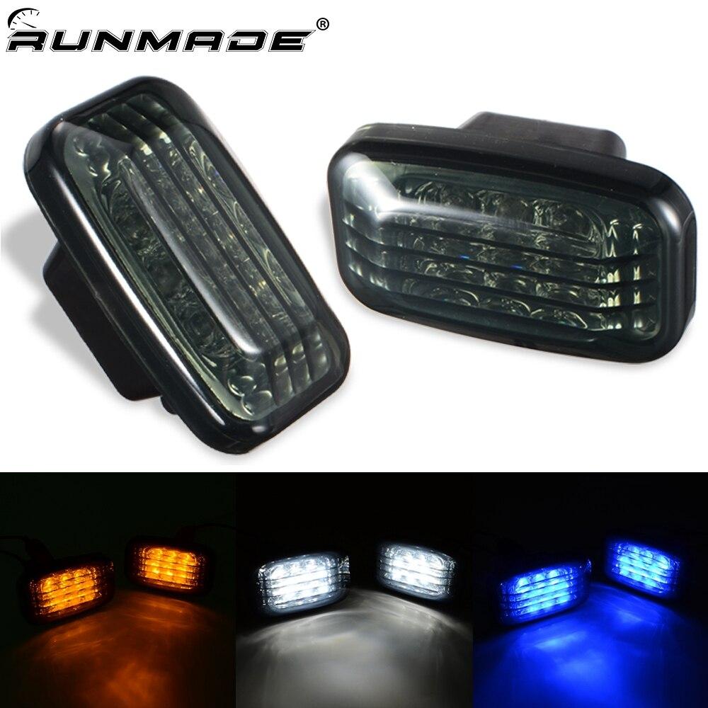 runmade 1Pair Car Side Marker font b Lamp b font LED Smoke Turn Signal Light For