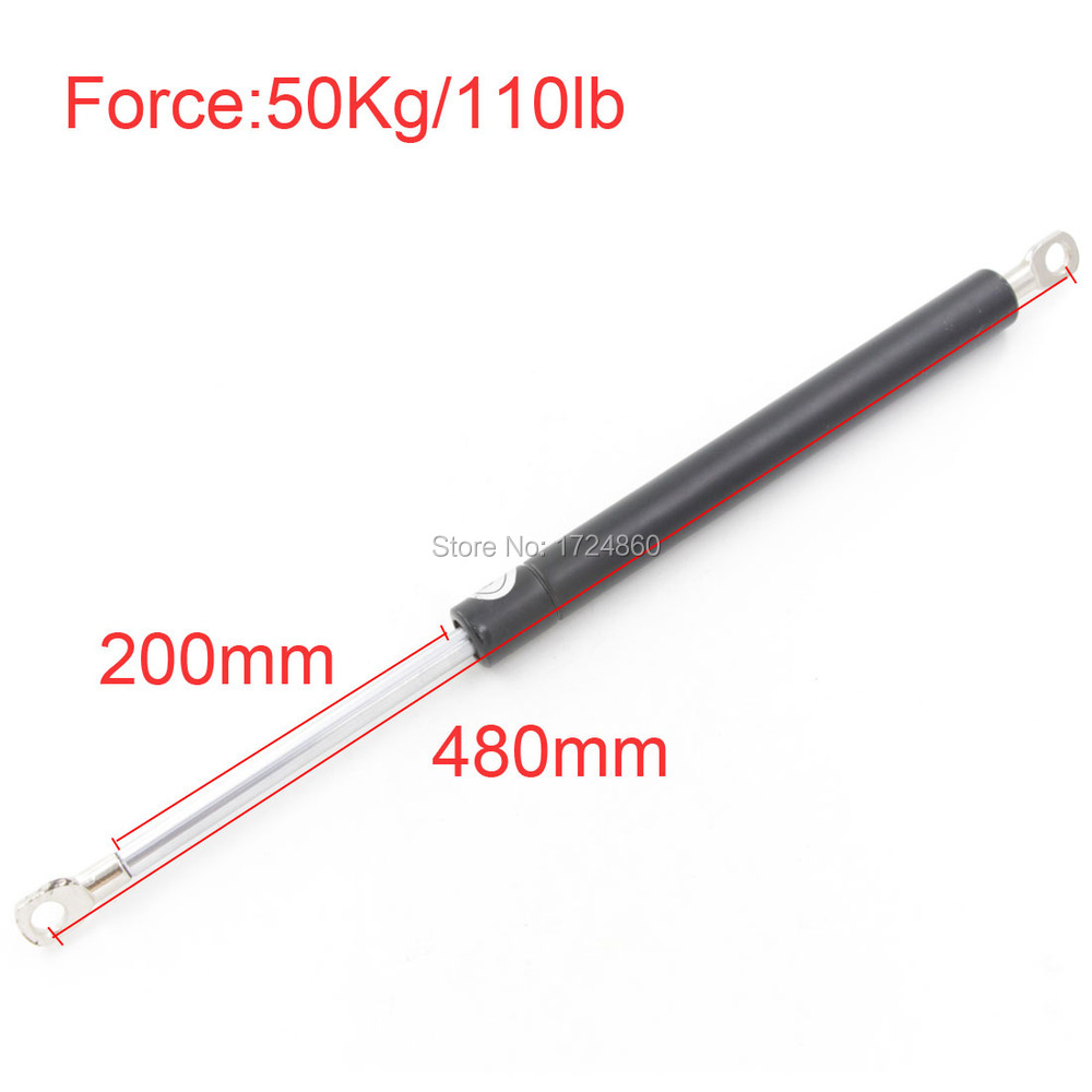 Auto Gas Springs for Car 480mm Central Distance 50KG/110lb Force 200mm Long Stroke Spring Lift Gas Springs for Funiture Door M8 60kg 132lb 405mm force 140mm long stroke auto gas spring hood lift support 405 140mm central distance m8 gas springs in springs