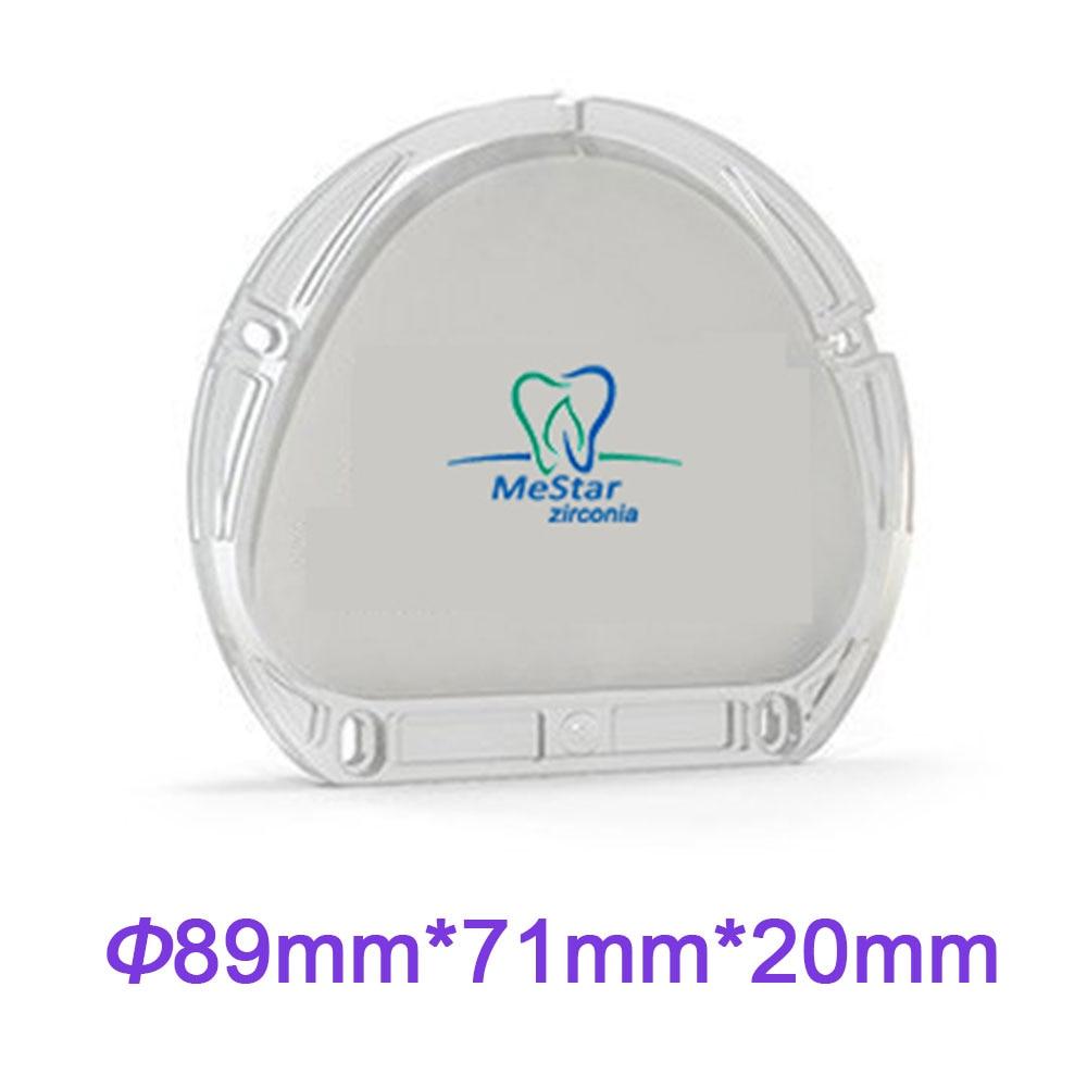Super Tembus 20mm Tebal Gigi Zirkonia Blok Kompatibel dengan Bahan Lab Amann Girrbach CADCAM