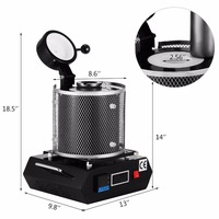 220V Automatic 2kg Melting Furnace Silver & Gold Pour Bar with Graphite Crucible