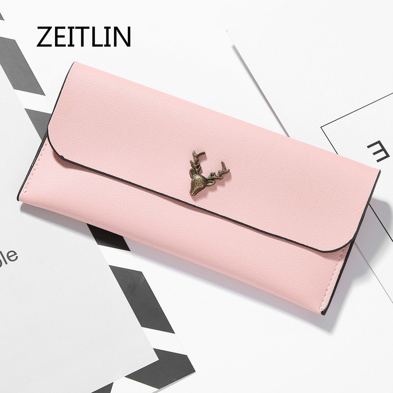 Lady Long Clutch Wallets New Fashion Wallet For Women Deer Printed Brand Female Change Purse Hasp Coin Pocket Card Holder M0112