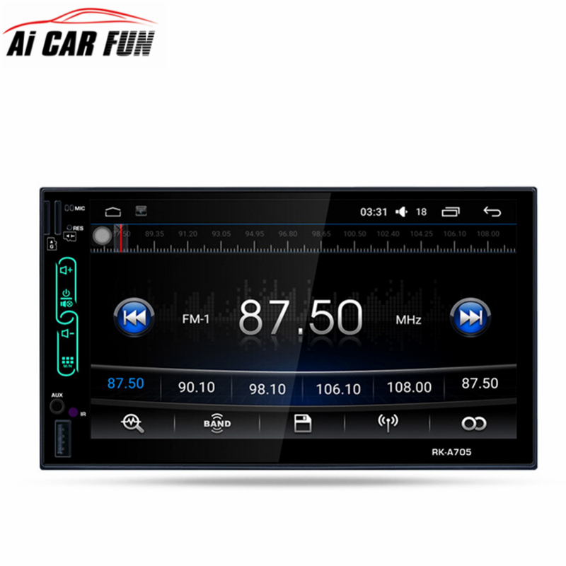 rk a705 7 fhd capacitive touch screen car radio media dvd. Black Bedroom Furniture Sets. Home Design Ideas