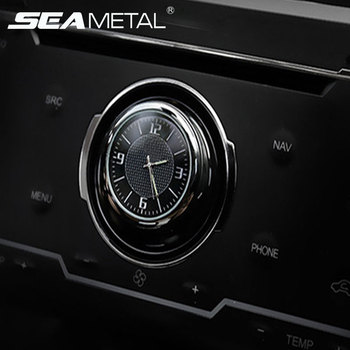 f7e806ff348f Luminosa coche reloj Digital relojes Mini Autos de reloj de cuarzo en el coche  reloj Clip de ventilación de aire de decoración automóviles Interior ...