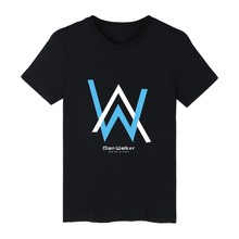 Popular Alan Walker Singer Short Sleeve Tee Shirt Men Cotton Summer Tshirt Men Brand World Famous Electronic Music Tshirt Men