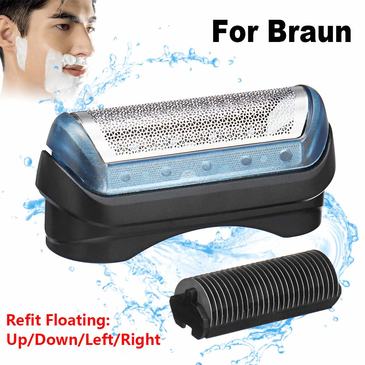 Refit Floating Shaver Foil for BRAUN 11B Series 5682/5683/5685 Bathroom Product Part Shaver Accessory Blade Replacement FoilRefit Floating Shaver Foil for BRAUN 11B Series 5682/5683/5685 Bathroom Product Part Shaver Accessory Blade Replacement Foil