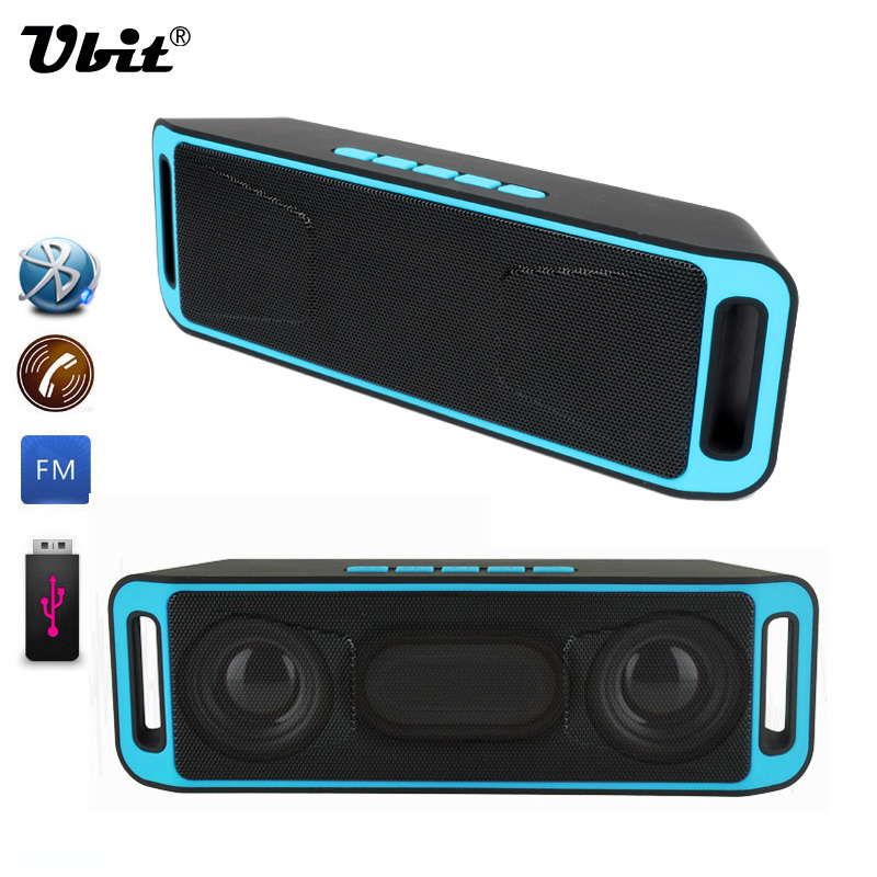Ubit Portable Wireless Speaker Bluetooth 4.0 Stereo Subwoofer TF USB FM Radio Built-in Mic Dual LoudSpeaker Bass Sound Speakers