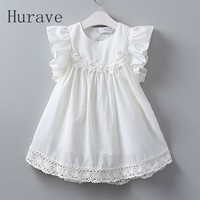 2017 Summer New Lolita Style White Lace Vest Girl Dress Baby Girl Princess Dresses 3 8