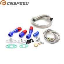 Car Turbo T3 T4 T3/T4 T70 T66 TO4E Turbo Oil Feed Line Oil Return Line Oil Drain Line Kit blue and Turbo Oil Feed Hose YC100716