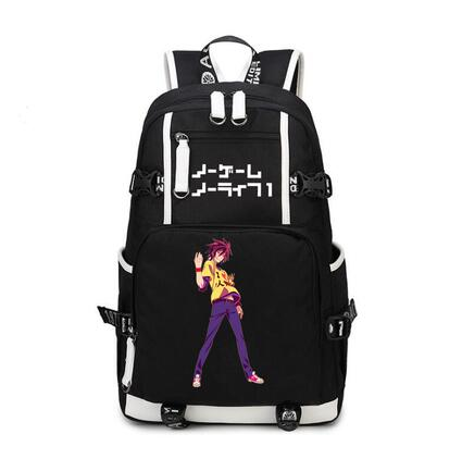 HIGH Q Anime NO GAME NO LIFE Backpack casual nylon unisex  Student large capacity  Schoolbag Unisex Travel BackpackHIGH Q Anime NO GAME NO LIFE Backpack casual nylon unisex  Student large capacity  Schoolbag Unisex Travel Backpack
