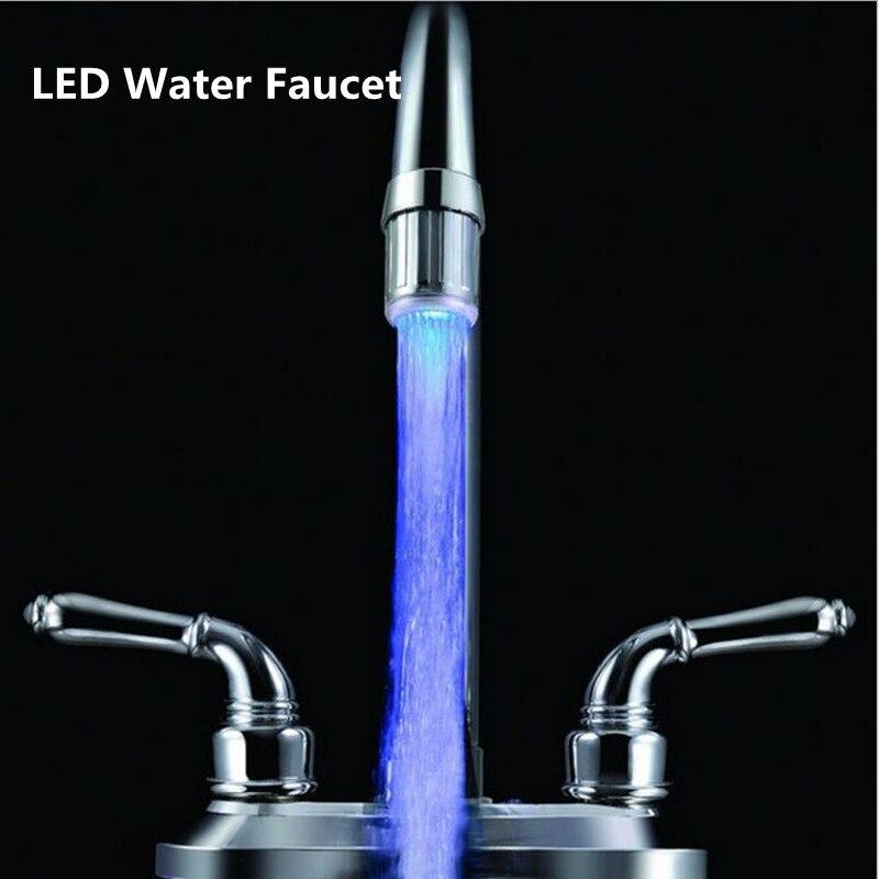 Luzes da Noite cores luzes torneira monocromático iluminação Led : Temperature Control