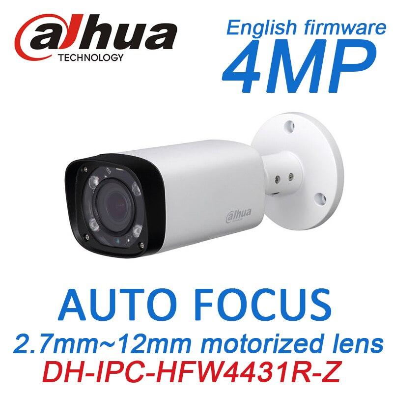 Dahua h.265 4MP IP PoE IPC-HFW4431R-Z 2.7mm ~12mm motorized auto focus zoom lens IR 80M onvfi ip network cctv camera h 265 264 4 0 megapixel 4mp ip camera outdoor hd network poe 5x zoom auto focus iris motorized lens ir 60m ip cam freeip onvif