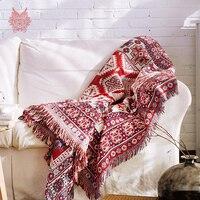 Красный 100% хлопок диван крышку полотенце европейские классические трикотажные диван/стул одеяло скольжению старинные диван крышку SP2191
