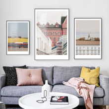 Decorative Painting Modern Simple Nordic Architecture Restaurant Living Room Photography Murals Hanging Paintings Parallel World