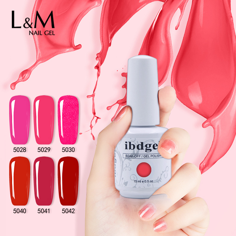 12 pcs ibdgel gel laquer berwarna-warni rendam luar gel kuku gel uv (10 colors + 1top + 1base kot) China kuku pembekal gel borong