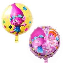 18inch Cartoon Trolls Foil Balloon Kids Birthday Party Decoration Girl Toy Inflatable Air Globos DIY