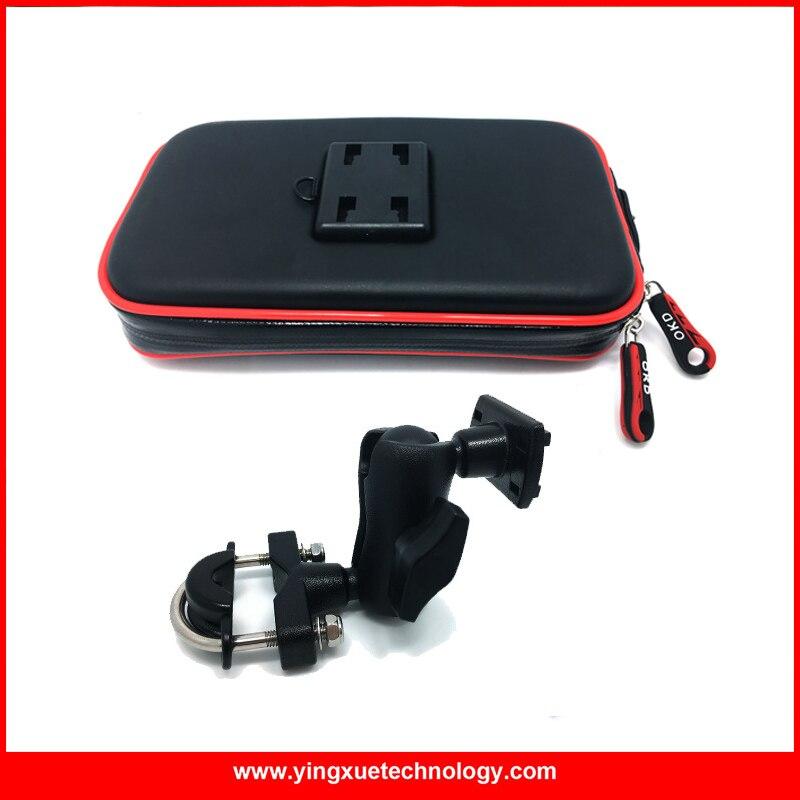 bilder für Universal Schiene Montieren Handy Halter Fall Motorrad Fahrrad-lenkstange Halter-standplatz mit Wasserdichtem Reißverschluss Fall für Smartphones
