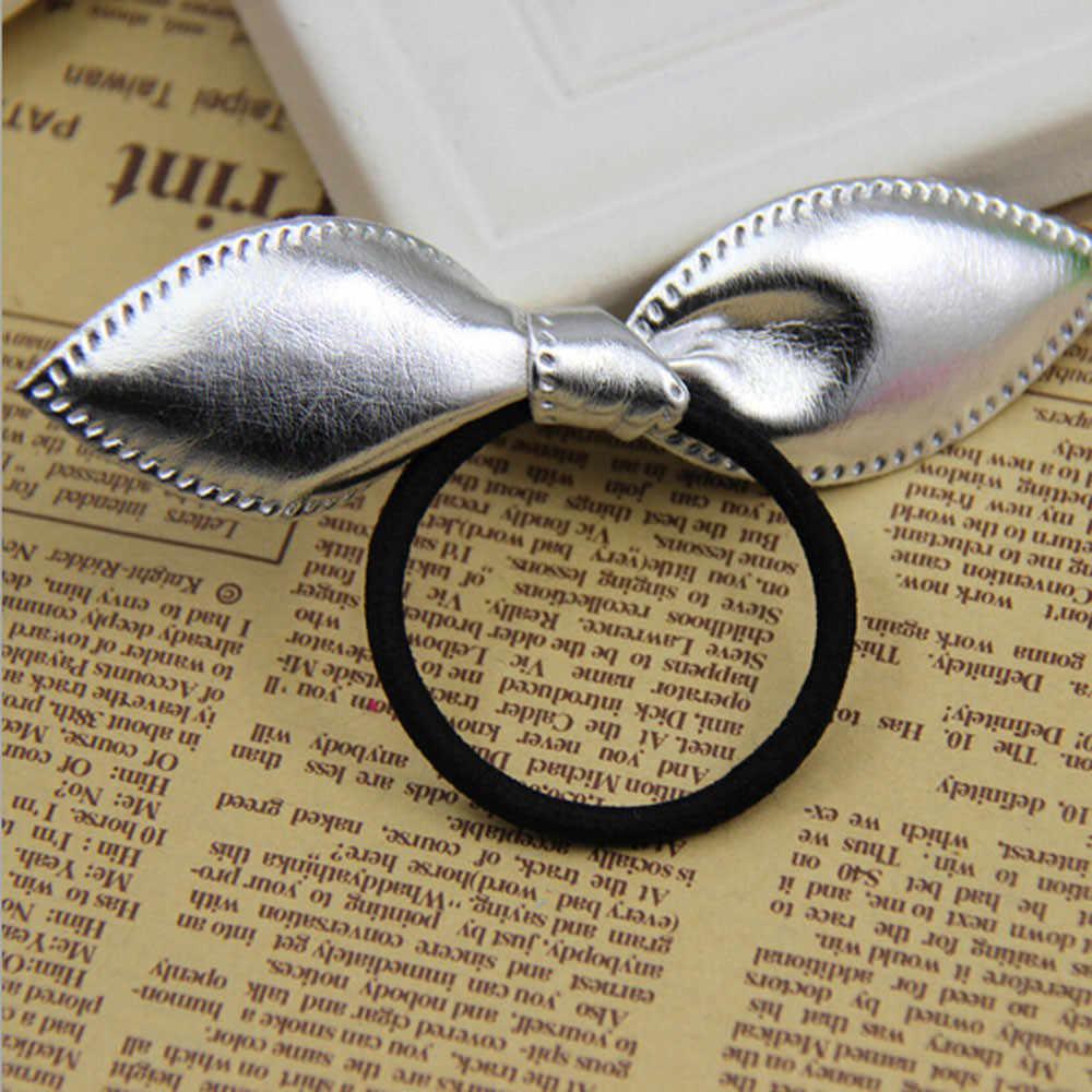 Симпатичная повязка аксессуары для волос для девочек Детская Одиночная блестка с заячьими ушками Резиновая лента для маленьких девочек аксессуары для волос новый дизайн корейский