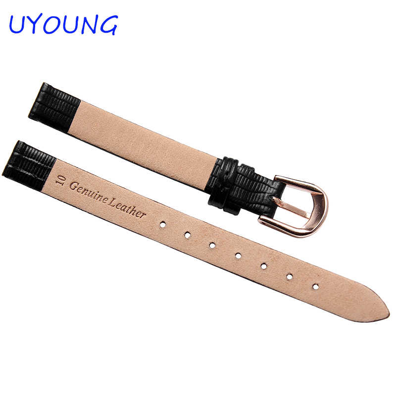Kwaliteit Lederen Horloge band 10mm 14mm Kleine Size Strap Voor Womens Horloge accessoires