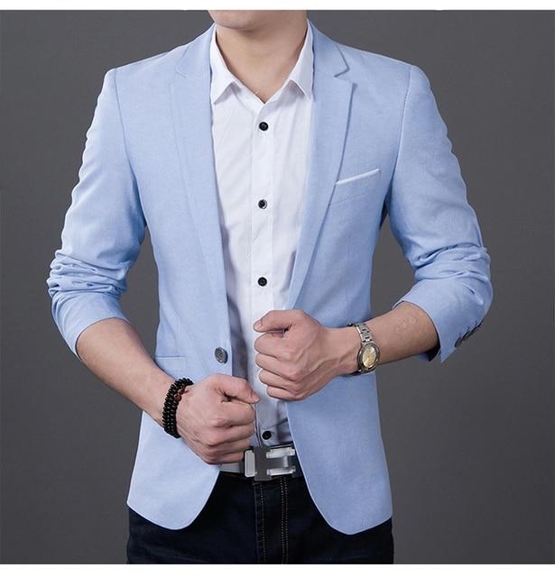 2017 fashion men casual 1 cotton jackets male slim fit