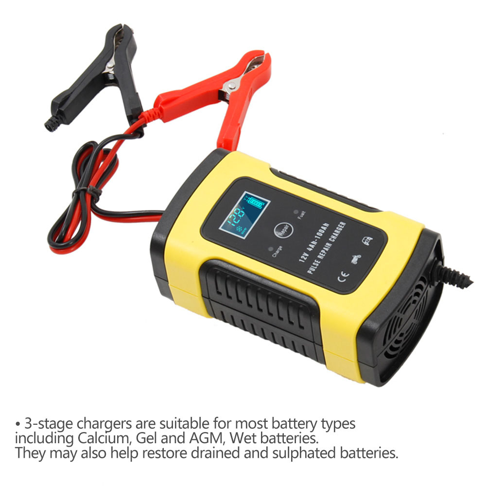 Image 3 - 12V 6A Motorcycle Car Battery Charger Fully Intelligent Repair Lead Acid Storage Charger Moto Intelligent LCD Display