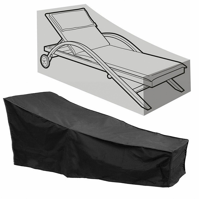 Waterproof Outdoor Chaise Lounge Chair Cover Dustproof Patio Furniture Protectio|All-Purpose Covers| |  - title=