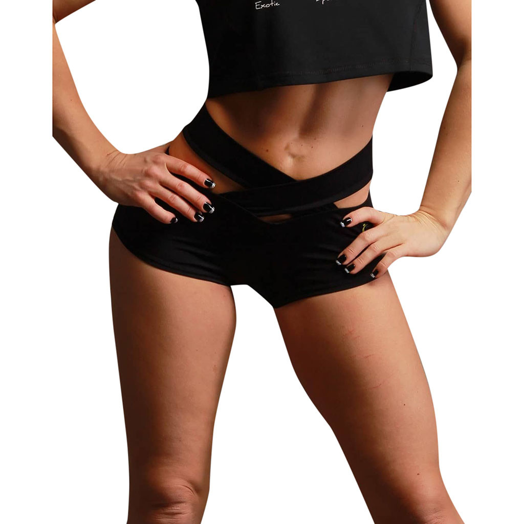FREE OSTRICH Women's fashion daily leisure fitness sexy hip high waist sports running good simple solid color comfortable   shorts
