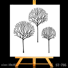 ZhuoAng Blooming trunk Clear Stamps/Card Making Holiday decorations For  scrapbooking Transparent stamps 6*9cm