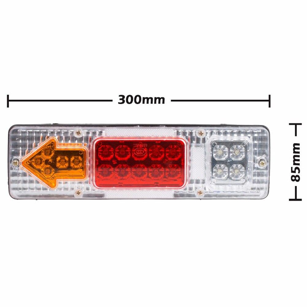 2pcs 12V 1.5W Trucks Running Turn Light Lamp Tail Lights Led Trailer Taillights White Cover Tail Stop Reverser