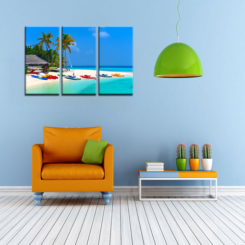 panel modern abstract painting summer beach seascape picture  -  panel modern abstract painting summer beach seascape picture printed oncanvas wall art home decor waterproof modular canvasin painting calligraphy
