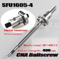 Sfu1605 l 400mm rm1605 400mm SFU1605 4 rolou o parafuso da esfera 1pc + 1pc ballnut extremidade fazendo à máquina para bk/bf12 processamento padrão|screw screw|screw sfu1605screw ball -