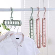 WBBOOMING Multi-port Support Circle Clothes Hanger Clothes Drying Rack Multifunction Plastic Scarf Clothes Hangers Storage