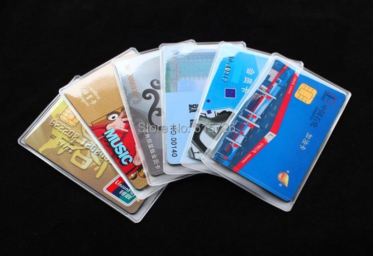 transparent Card Slip Case bank card case Sleeve Protective ...