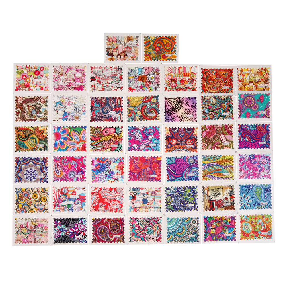 44pcs Nail Sticker Flower Water Decals Transfer Foil Floral Design Nail Art Tips Stamp Decals Nail Art Beauty Christmas Decor 233 style new 8 pcs lot flower nail decals leopard nail art transfer foil sticker tips decoration christmas snow nails