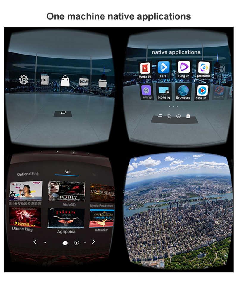 Все в одном гарнитура действия RK3288 VR четырехъядерный 1080 P FHD дисплей VR захватывающие 3D очки виртуальной реальности Гарнитура с wifi + BT