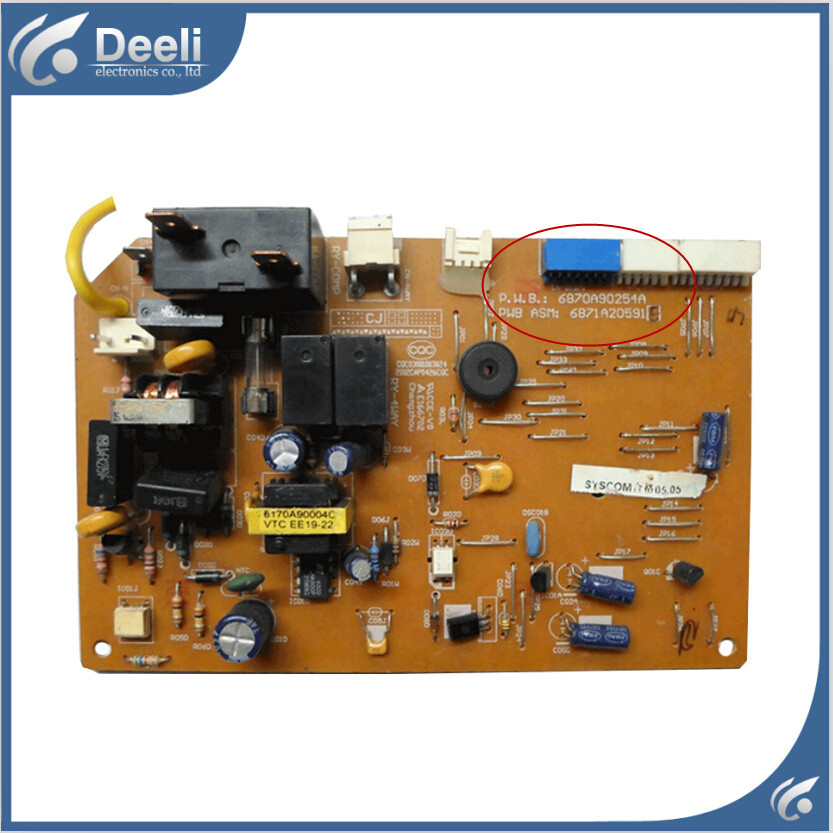 95% new good working for air conditioning Computer board 6870A90254A 6871A20591Q control board on sale wire universal board computer board six lines 0040400256 0040400257 used disassemble