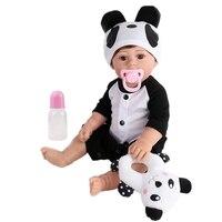 Reborn Baby Doll Princess Lifelike Realistic panda 17 inch lol Full Vinyl Bebe Infant Lovely New Babe Boneca KAYDORA