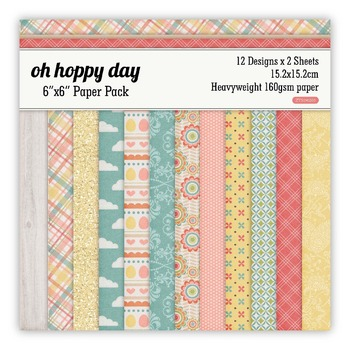Hoppy day Scrapbooking paper pack of 24 sheets handmade craft paper craft Background pad 1