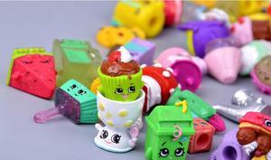 Image 3 - Hotsale מיניאטורי קניות פירות בובות למשפחה ילדים חג המולד מתנת ילד משחק צעצועי מעורב עונות 100 יח\חבילה