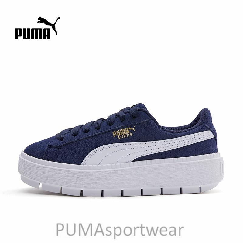 3ce346399c7e 2018 New Arrival PUMA Suede Women s Platform Rihanna Badminton Shoes Size  35.5-40