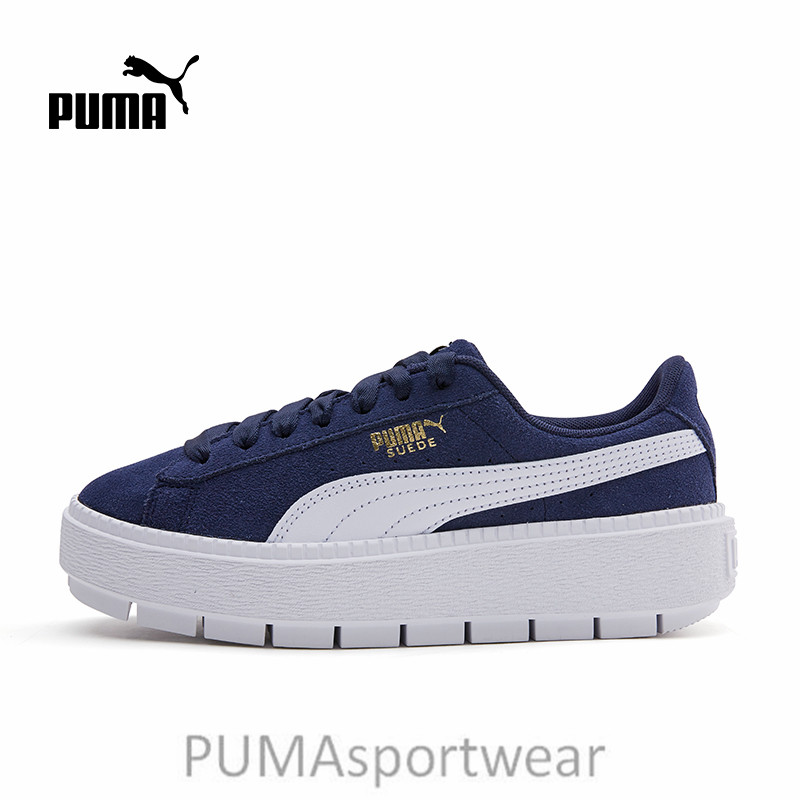 f7fdadcdf285 Detail Feedback Questions about 2018 New Arrival PUMA Suede Women s  Platform Rihanna Badminton Shoes Size 35.5 40 on Aliexpress.com