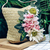 Handmade Flowers shoulder bag women Woven Beach Bag Summer Straw Bag For Women Travel Vacation Ladies Messenger Bags